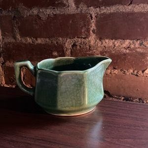 Small Green Ceramic Creamer